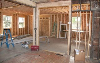 room at home being remodeled   TruHome Inc providing remodeling, roofing, windows, concrete floors, and siding services in Monroe, WI and Tristate area