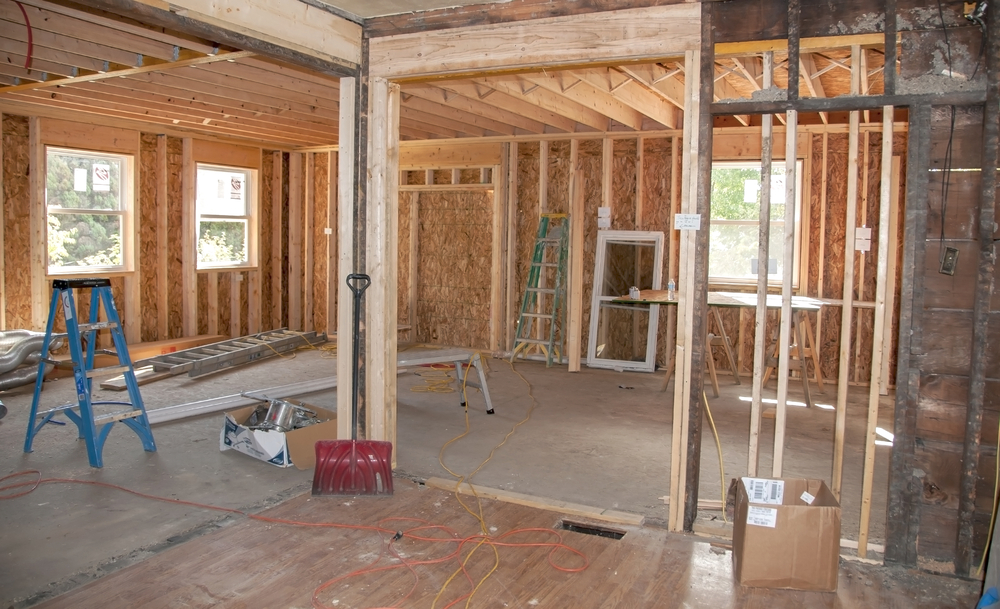room at home being remodeled | TruHome Inc providing remodeling, roofing, windows, concrete floors, and siding services in Monroe, WI and Tristate area