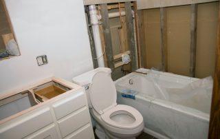 unfinished bathroom remodel